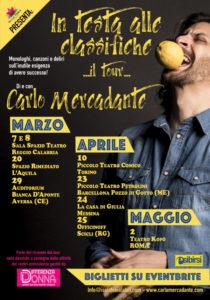 """""""IN TESTA ALLE CLASSIFICHE"""", IL TOUR DI CARLO MERCADANTE TRA SPERIMENTAZIONE E SOLIDARIETÀ"""
